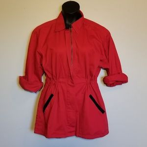 Outerwear zip up trench coat jacket